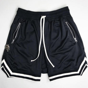 WOLF-GAGE GYM SHORTS IN BLACK