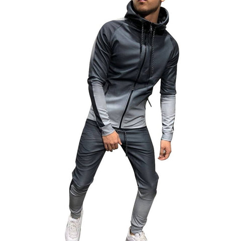 TWO TONED TRACKSUIT IN SILVER