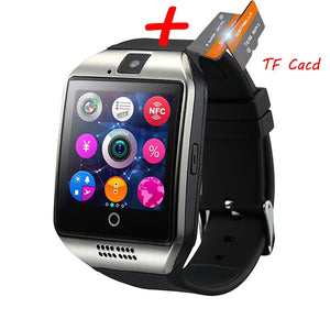 J18 SMART WATCH WITH SIM SLOT IN SILVER & BLACK