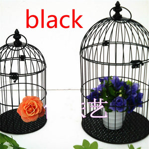 DECORATIVE IRON BIRDCAGE IN FOUR COLOURS