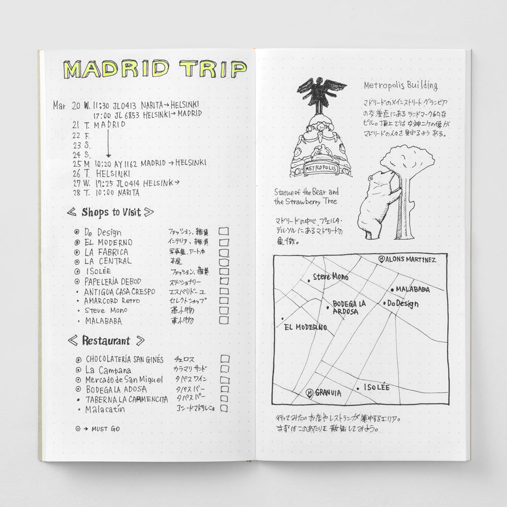 TRAVELER'S notebook - Refill - Dot Grid MD Paper - Penosaur