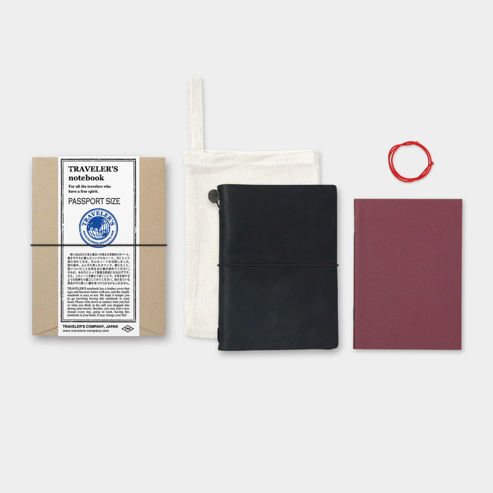 TRAVELER'S notebook - Leather Cover - Passport Size - Black - Penosaur