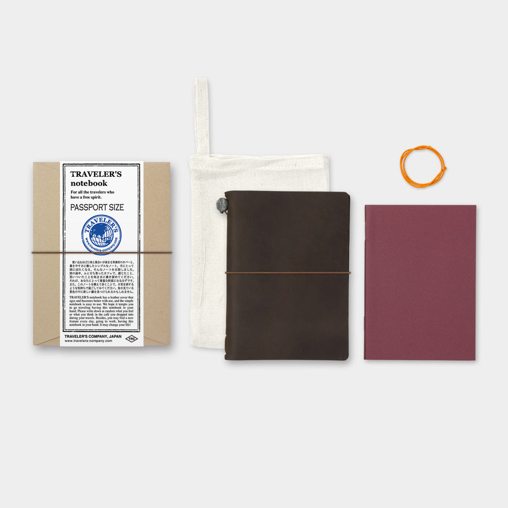TRAVELER'S notebook - Leather Cover - Passport Size - Brown - Penosaur