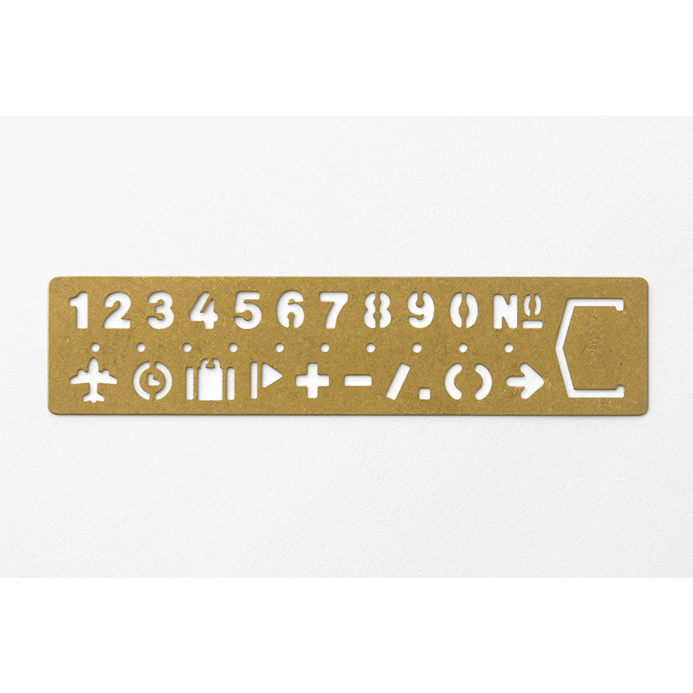 TRAVELER'S notebook - Brass Lettering Guides Number