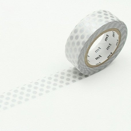 MT Washi Tape - Silver Dots - Penosaur