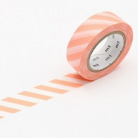 MT Washi Tape - Salmon Pink Stripes - Penosaur