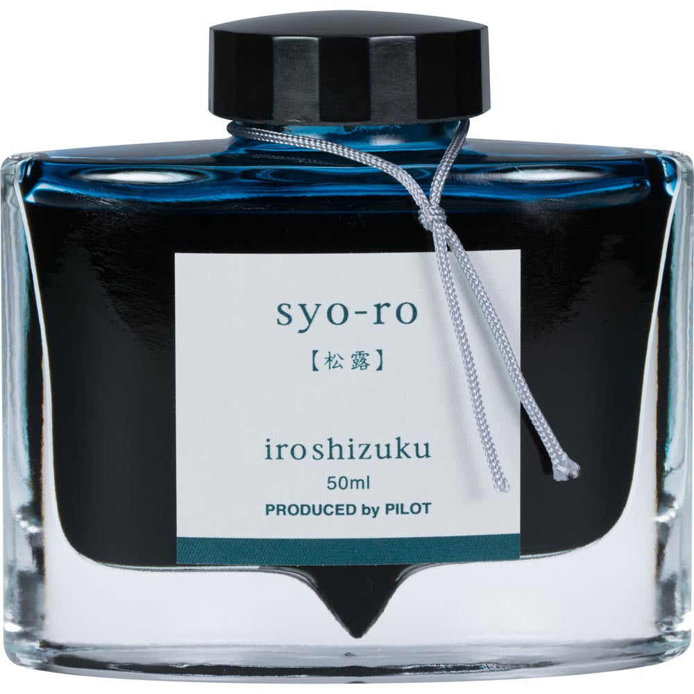 Pilot Iroshizuku Ink - Syo-ro (Dew on Pine Tree) - Dark Green- 50mL Bottle