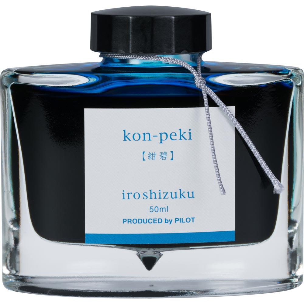 Pilot Iroshizuku Ink - Kon-peki (Cerulean) - Deep Blue - 50mL Bottle