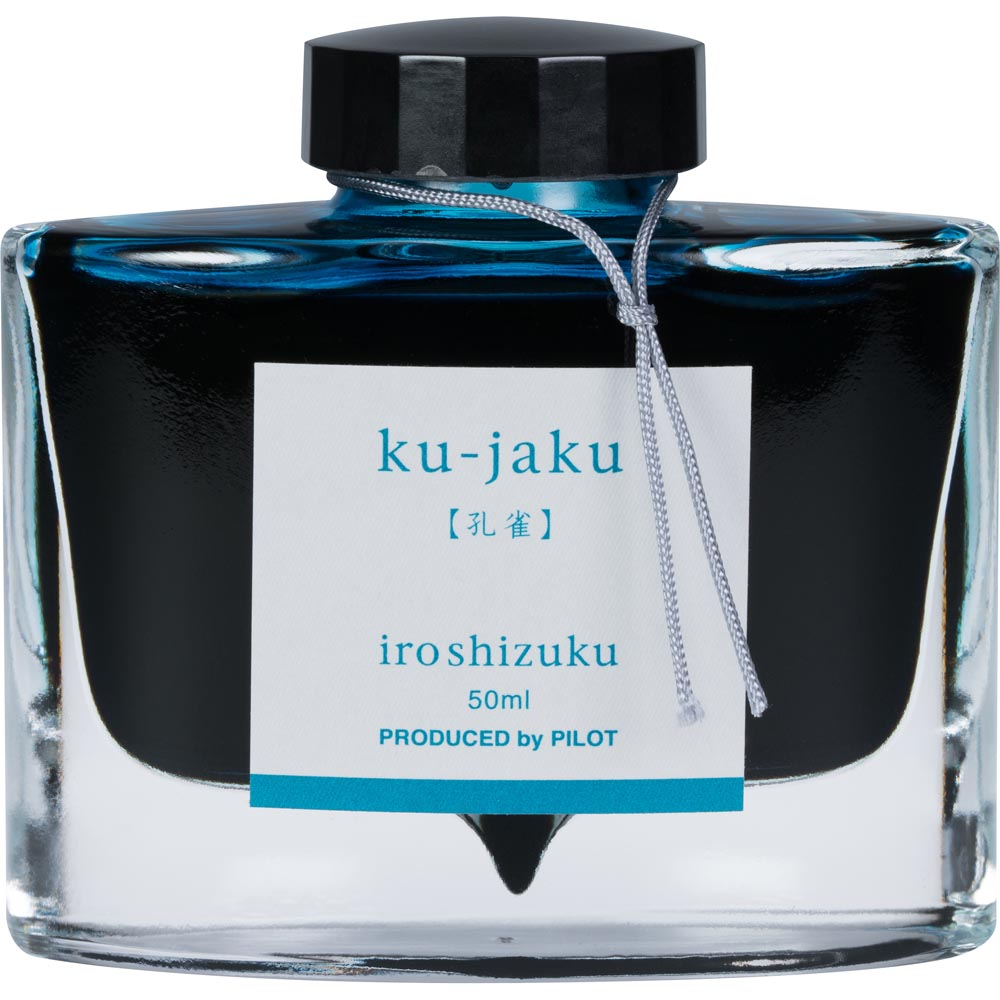 Pilot Iroshizuku Ink - Ku-jaku (Peacock) - Turquoise - 50mL Bottle