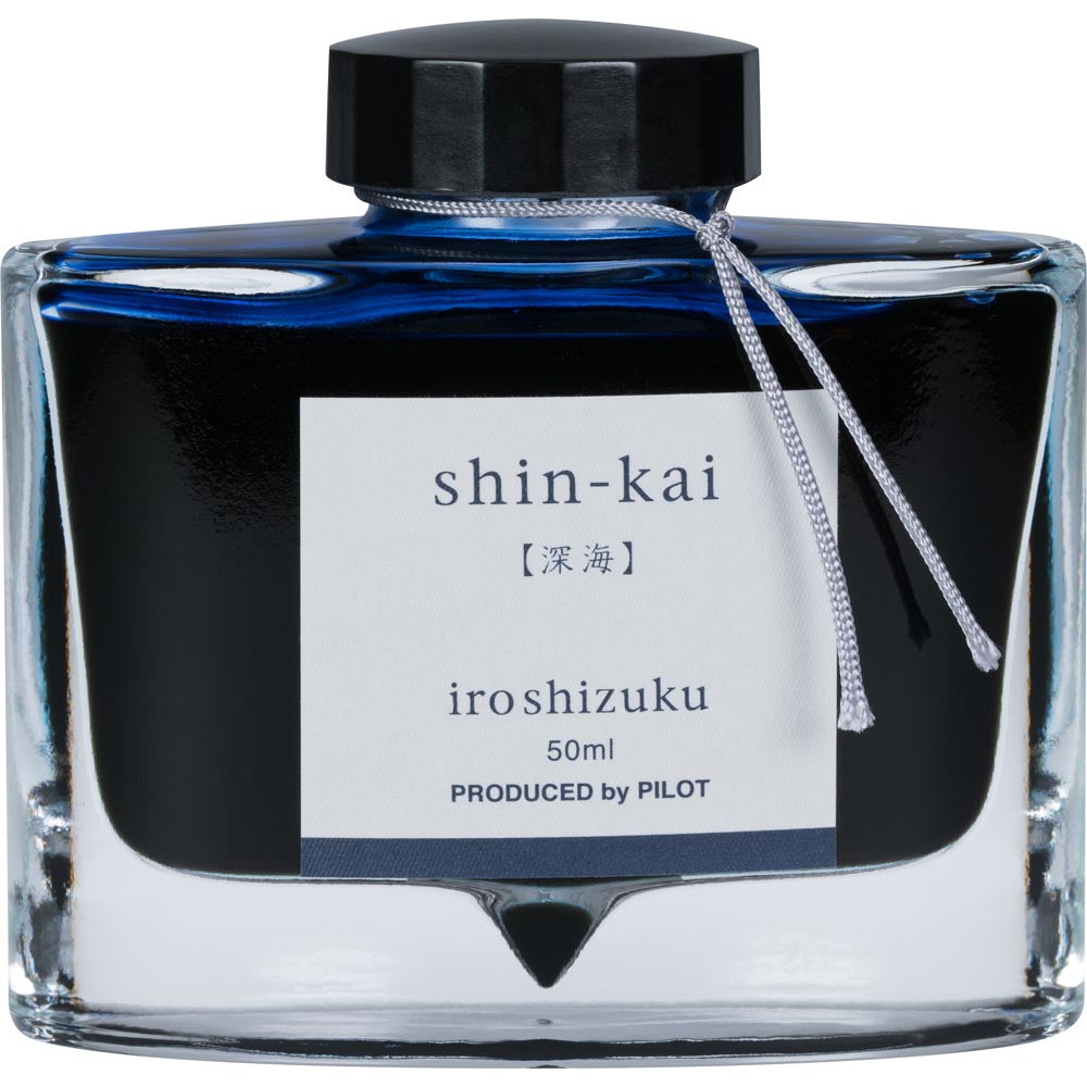 Pilot Iroshizuku Ink - shin-kai (Deep Sea) - Blue Black - 50mL Bottle