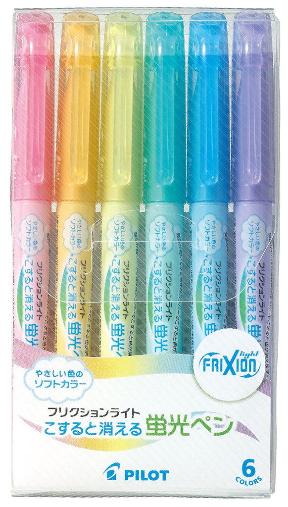 Pilot Frixion Highlighter  - 6 Light Soft Color Set - Penosaur