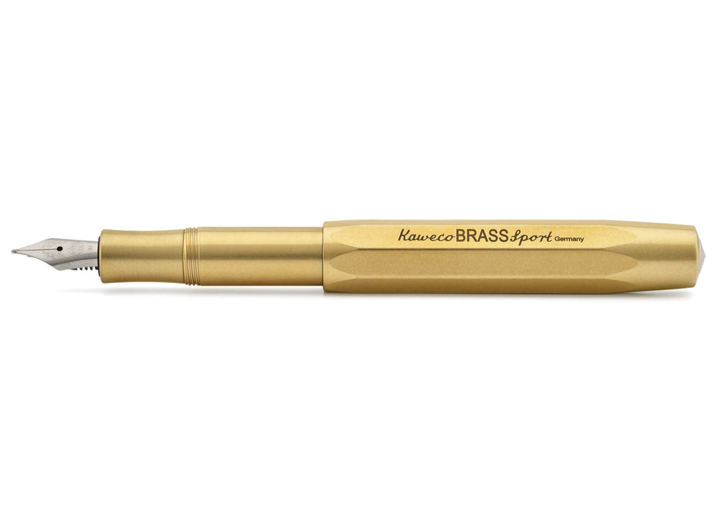 Kaweco Brass Sport Fountain Pen - Medium Nib