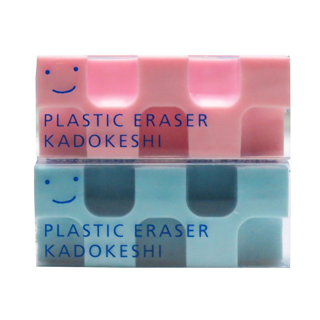 Kokuyo Kadokeshi Eraser - Small -Set of 2(Pink/Blue) - Penosaur