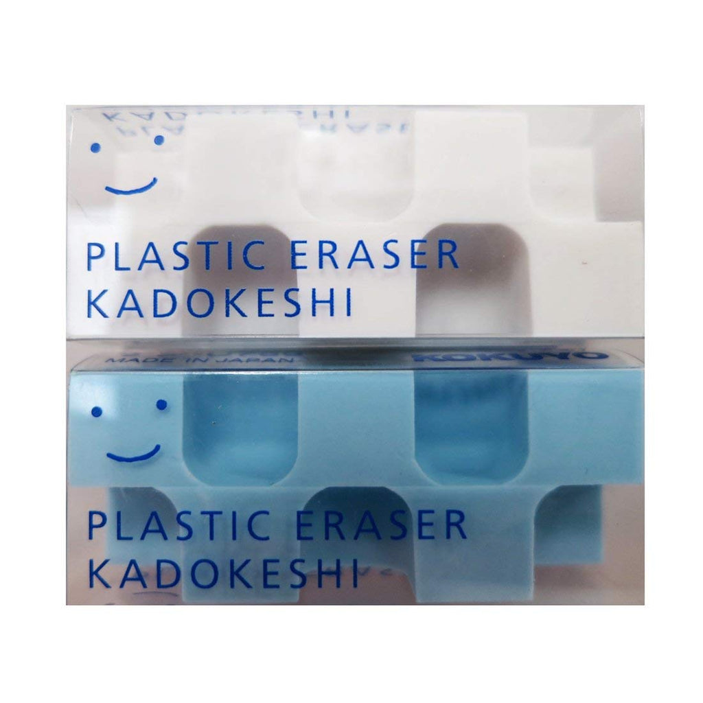 Kokuyo Kadokeshi Eraser - Small - Set of 2(Blue/White) - Penosaur