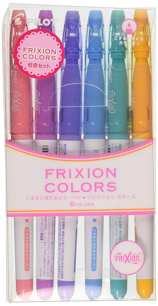 Pilot FriXion Colors Erasable Marker, 6 Color Set 2 - Penosaur