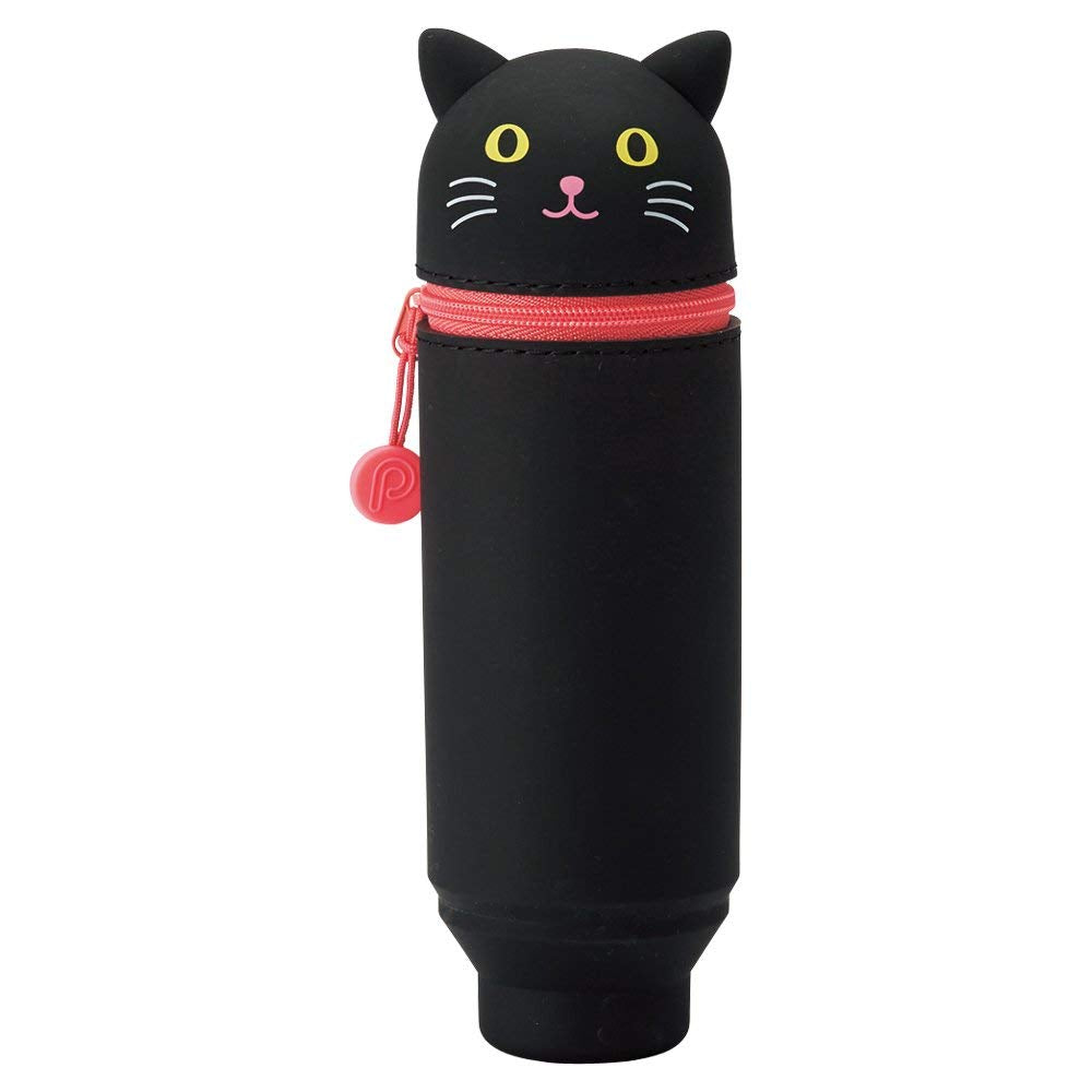 Lihit Lab SMART Punilabo Stand Pencil Case - Medium Size - Black Cat - Penosaur