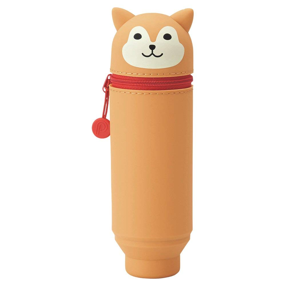 Lihit Lab SMART Punilabo Stand Pencil Case - Medium Size - Shiba Dog - Penosaur
