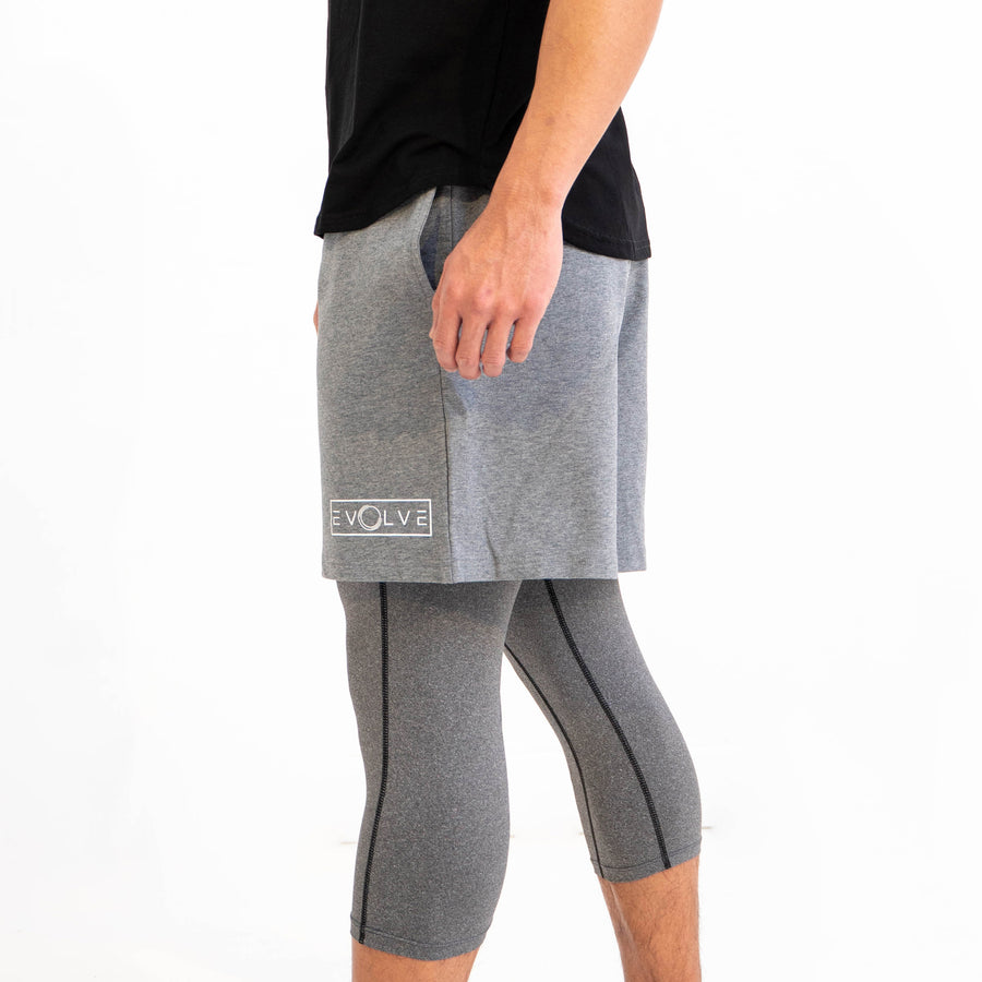 Velocity Shorts - Heather Grey - EVOLVE FASHION