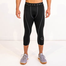 Evolve 3/4 Compression Leggings - Black/Grey