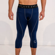 Evolve 3/4 Compression Leggings - Dark Blue