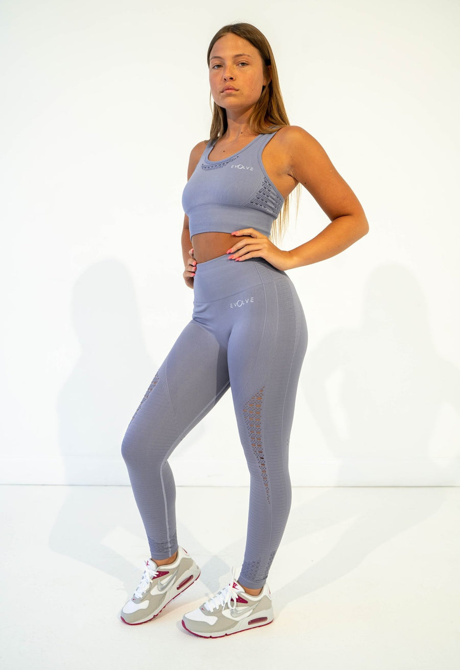 Aspire Seamless Leggings (Light Blue) - EVOLVE FASHION