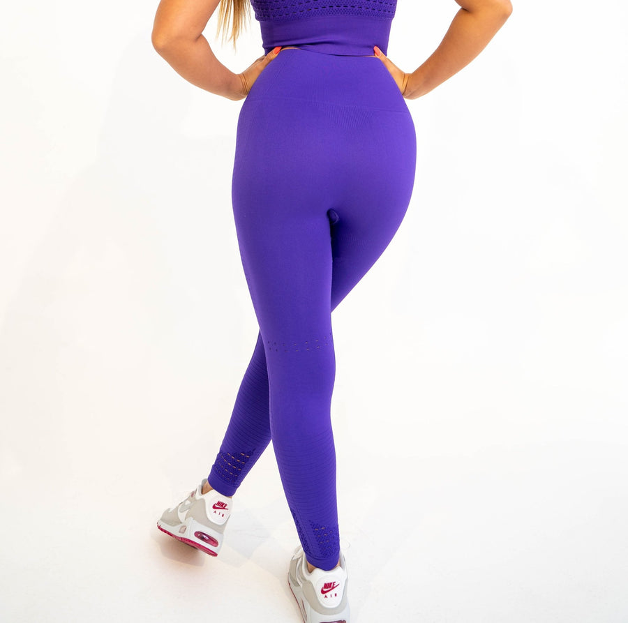 Aspire Seamless Leggings (Violet) - EVOLVE FASHION