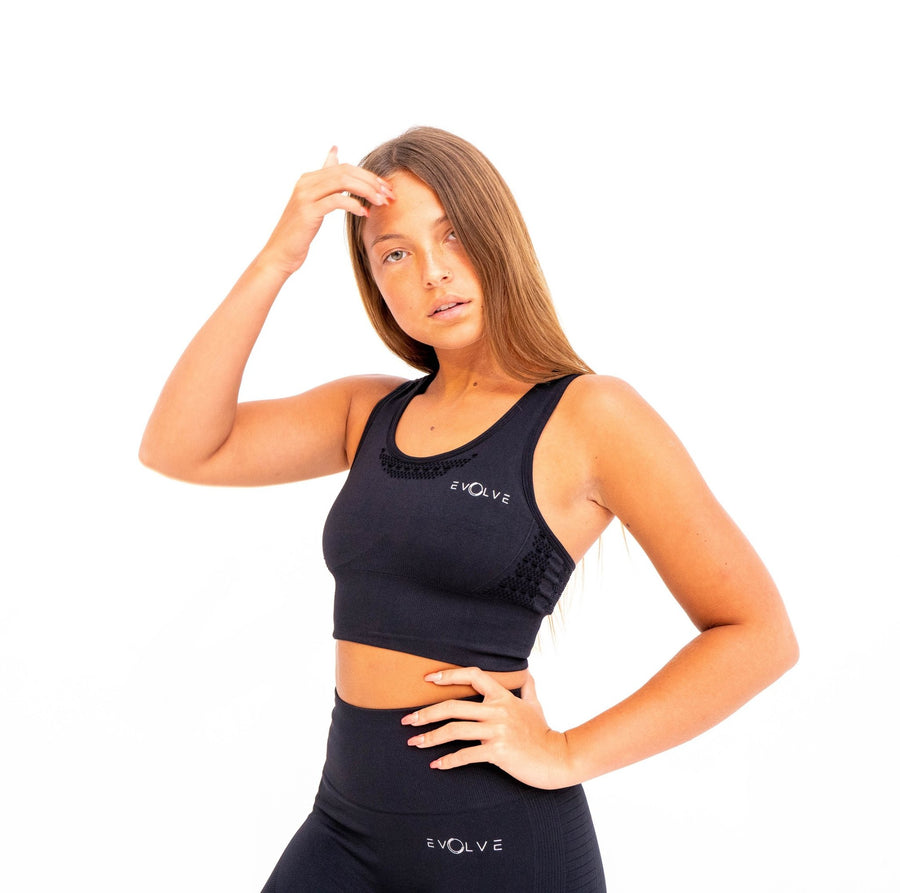 Aspire Seamless Sports Bra (Black) - EVOLVE FASHION
