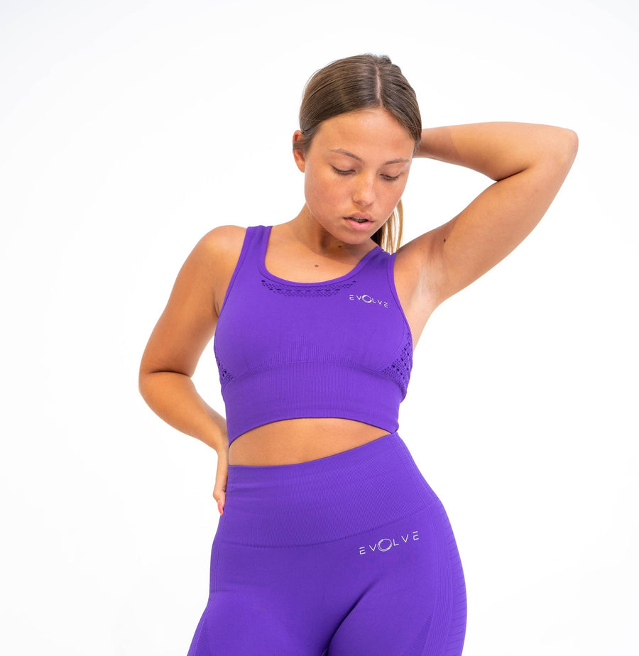 Aspire Seamless Sports Bra (Violet) - EVOLVE FASHION