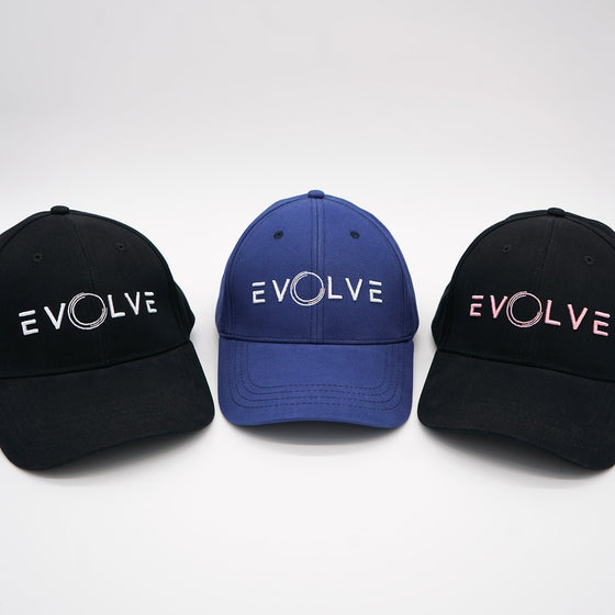 Evolve Fitted Baseball Cap - Blue/White - EVOLVE FASHION