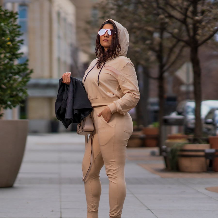 Evolve Sport Hoodie- Latte Brown - EVOLVE FASHION