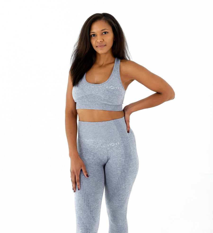 Marvel Seamless Sports Bra - Light Blue - EVOLVE FASHION