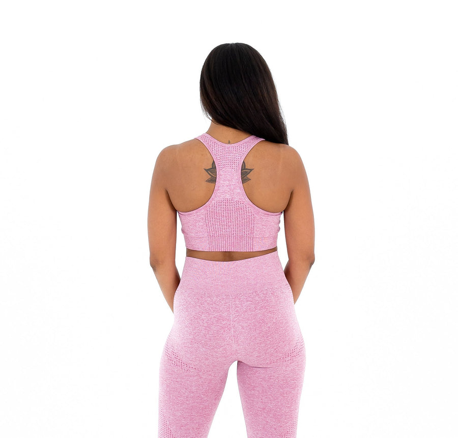 Marvel Seamless Sports Bra - Pink - EVOLVE FASHION