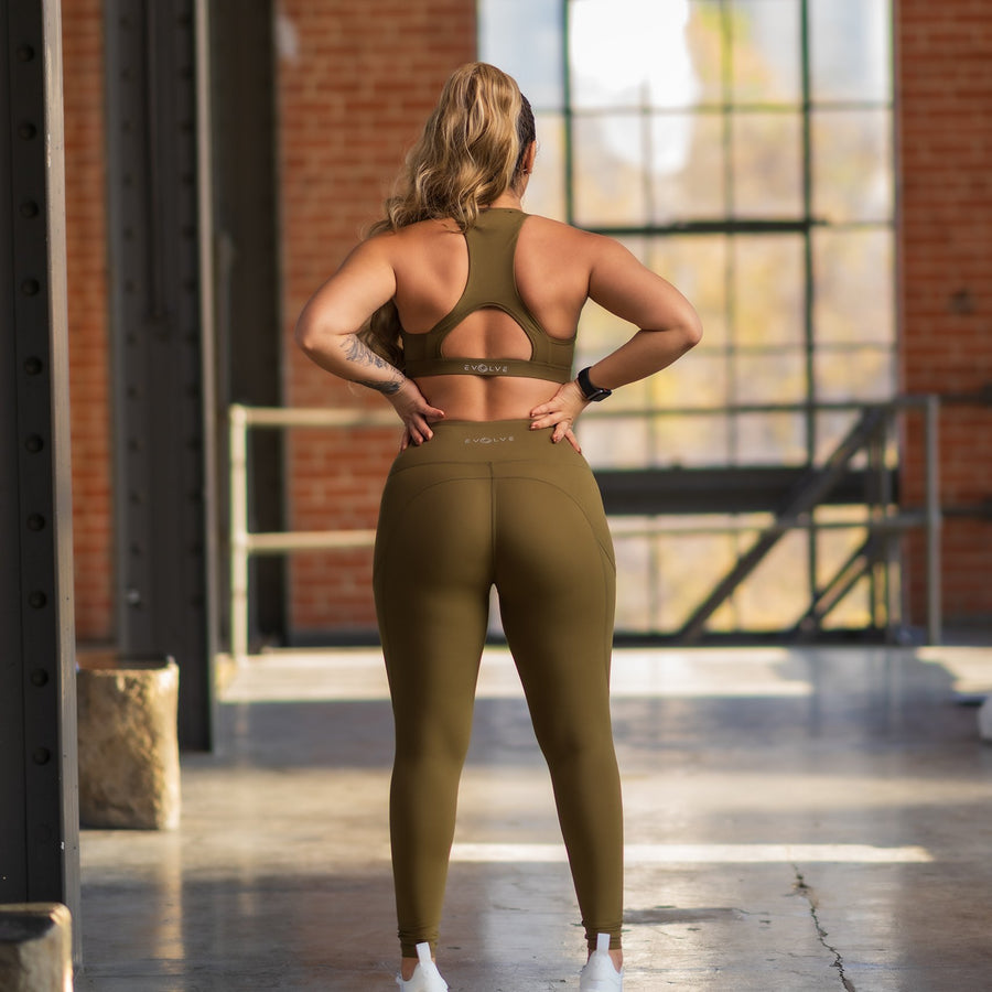 Princess Leggings - Olive - EVOLVE FASHION