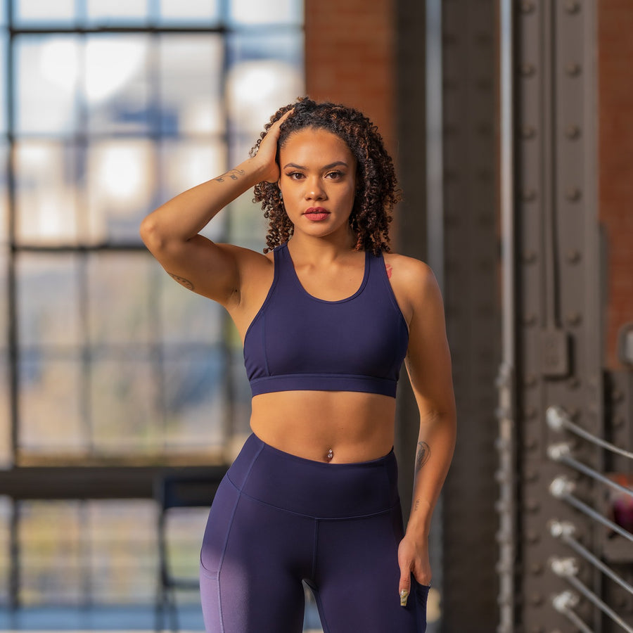 Princess Sports Bra - Blue - EVOLVE FASHION