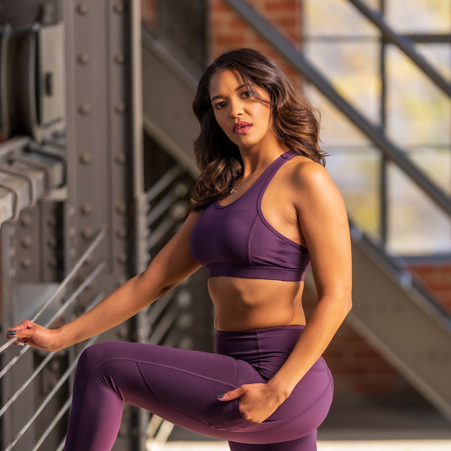 Princess Sports Bra - Purple - EVOLVE FASHION