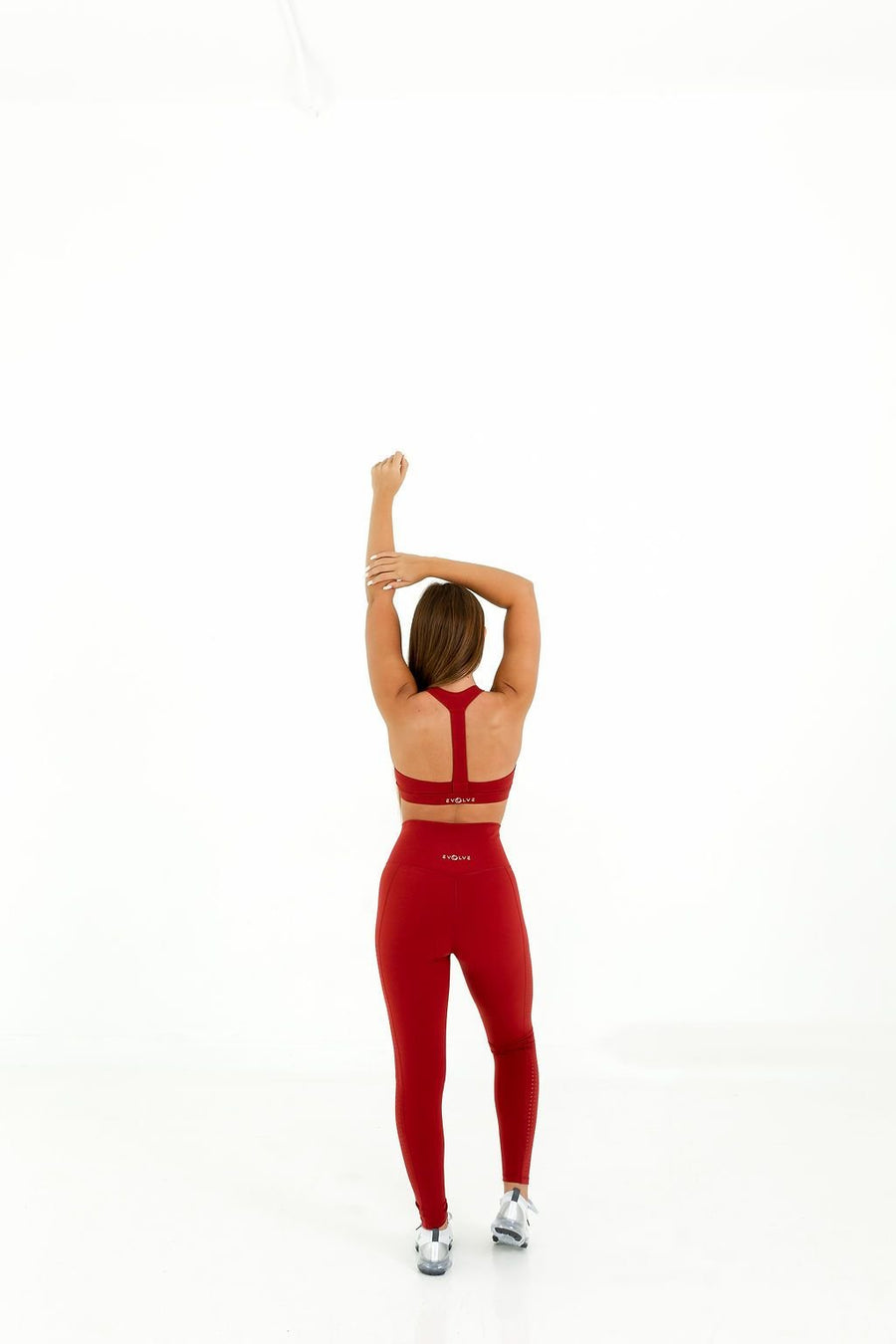 Queen Vee Sports Bra (Brick Red) - EVOLVE FASHION