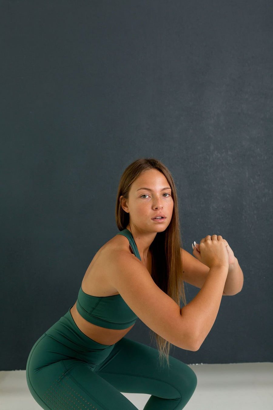 Queen Vee Sports Bra (Dark Green) - EVOLVE FASHION