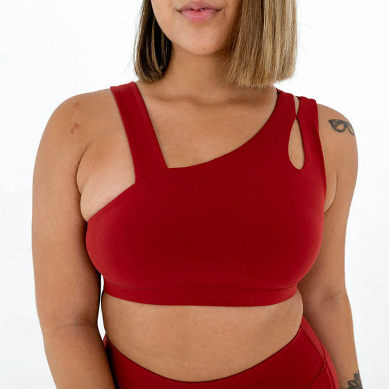 Rebel Sports Bra (Brick Red)