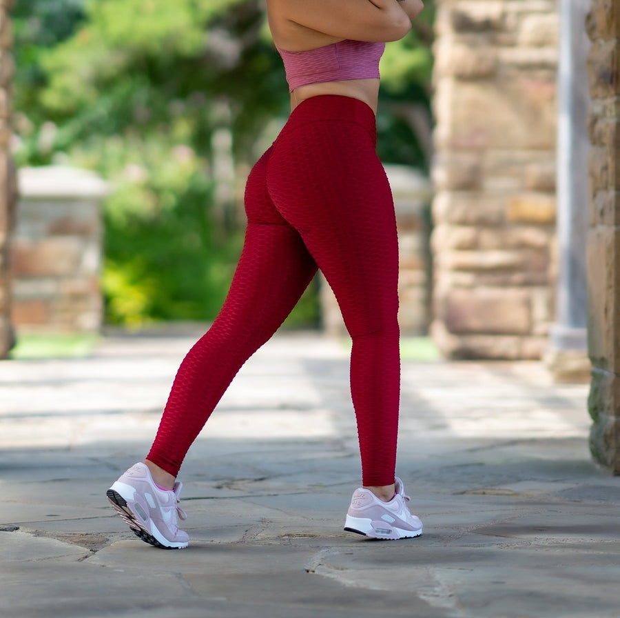 Rio Leggings - Dark Red - EVOLVE FASHION
