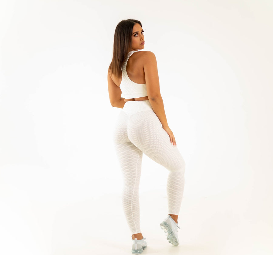 Rio Leggings - White - EVOLVE FASHION