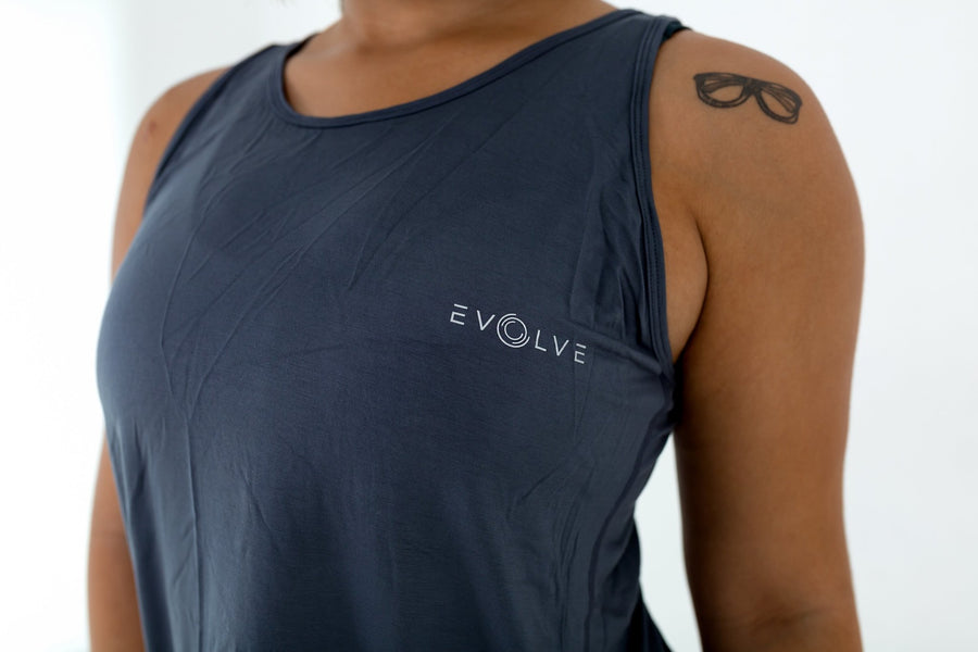 Rubix Tank Top - Blue - EVOLVE FASHION