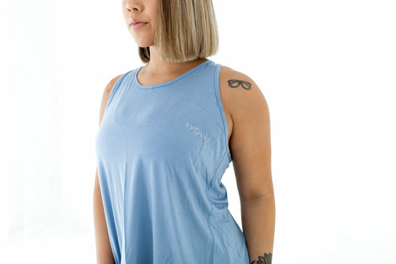 Rubix Tank Top - Light Blue - EVOLVE FASHION