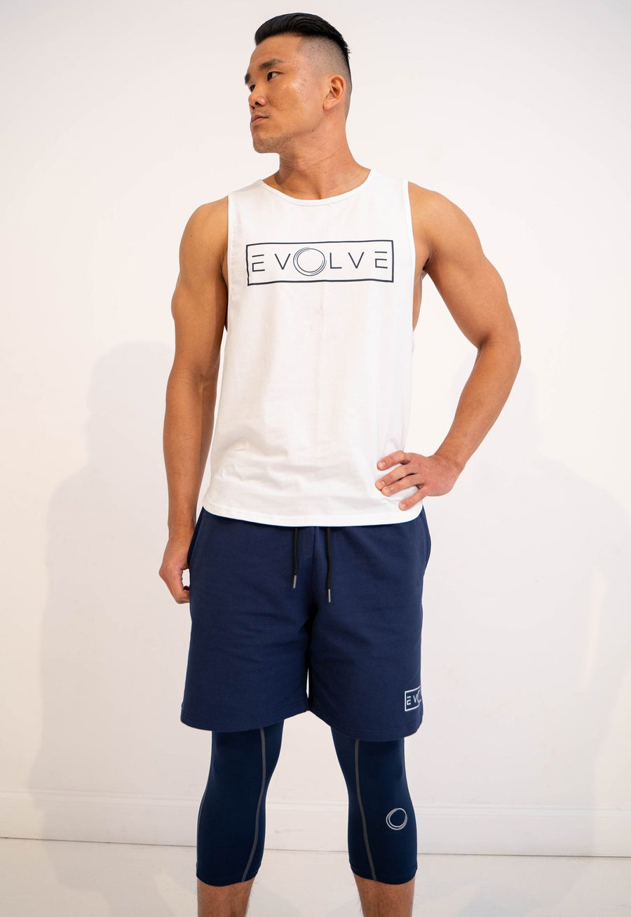 Velocity Tank - White - EVOLVE FASHION