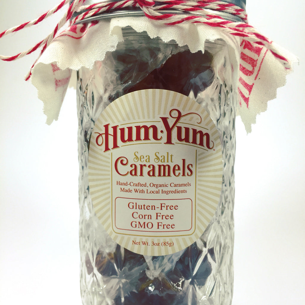 Organic Sea Salt Caramels - Jar of 20