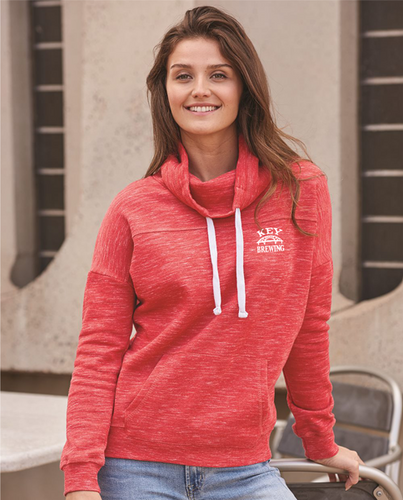 Ladies Key Fleece Cowl Neck Sweatshirt