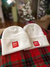 Load image into Gallery viewer, Red Patch Beanies - White or Black