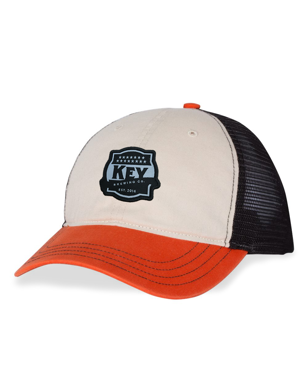 Key Black/Orange Unstructured Cap