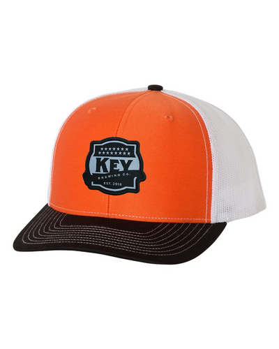Key Orange/Black Snapback Trucker Cap