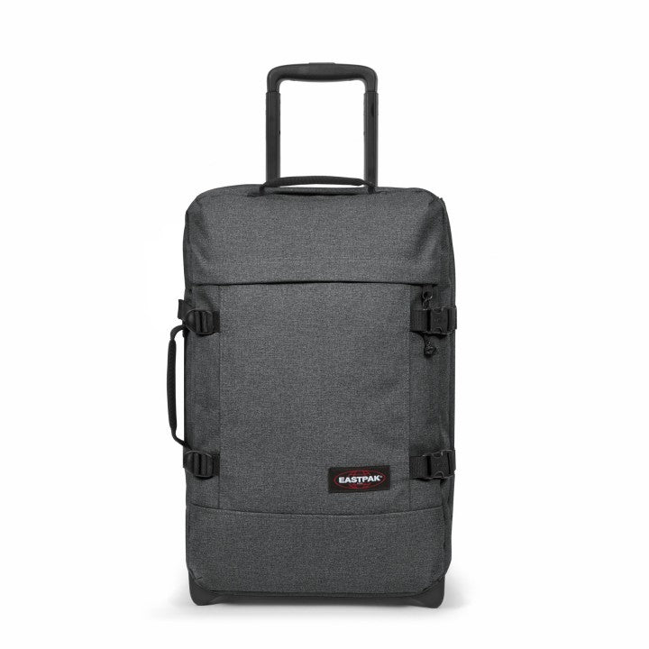 Eastpak Tranverz S Small Cabin Black Denim Wheeled Luggage
