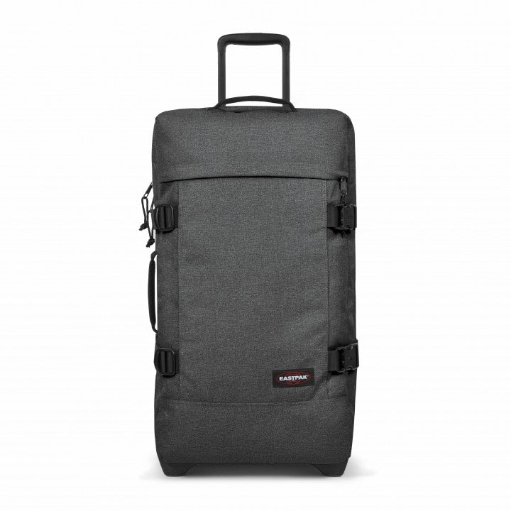 Eastpak Tranverz M Medium Black Denim Wheeled Luggage